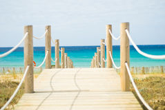 Walkway. Leading to the beach on Menorca Stock Images