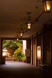 Walkway. A walkway to a courtyard in New Orleans' Freanch Quarter Stock Photos