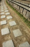Walkway. A walkway made from granite slab in Korea stock photography