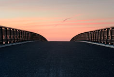 Walkway. Covered with asphalt, early one morning Royalty Free Stock Photos