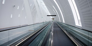 Walkway. Moving walkway at Copenhagen airport Royalty Free Stock Photography
