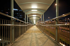 Walkway across a bridge Royalty Free Stock Image