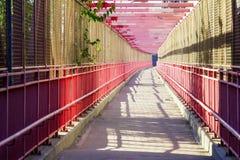 Walkway Across Williamsburg Bridge New York City Stock Photography