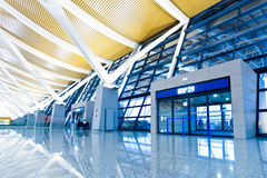 Walkway of airport Stock Image