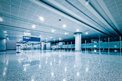 Walkway of airport Royalty Free Stock Photos