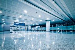 Walkway of airport Royalty Free Stock Photos