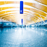 Walkway of airport Stock Images