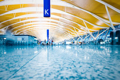 Walkway of airport Royalty Free Stock Photo