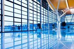 Walkway of airport Stock Photo