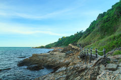Walkway along rocky coast Stock Photography