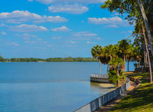 The walkway along Tampa Bay at Philippe Park in Safety Harbor, Florida. Stock Photo