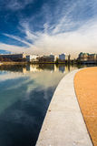 Walkway along the Tidal Basin, in East Potomac Park, Washington, Royalty Free Stock Images