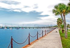 Free Walkway And Bay Of Saint Augustine, FL Stock Photography - 126732582