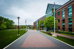 Walkway And The College Of Liberal Arts, At Towson University, I Royalty Free Stock Photography