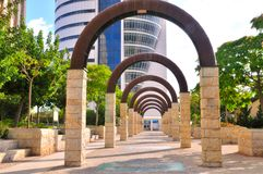Walkway with arches Royalty Free Stock Photos