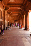 Walkway around Fatehpur Sikri in India Royalty Free Stock Images
