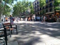 Walkway in Barcelona Stock Photo