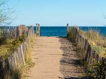 Walkway at the Beach Royalty Free Stock Photography