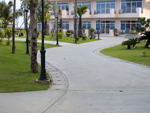Walkway in a Beachside Hotel Stock Images