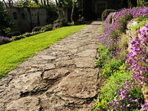 Walkway in a Beautiful Garden Stock Image
