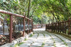 Walkway with bell fench Royalty Free Stock Images