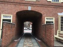 Walkway of Benjamin Franklin Stock Photo