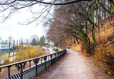 Walkway in Blankenese, Hamburg Royalty Free Stock Photos