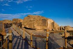 Walkway among boulders royalty free stock photos