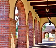 Walkway of Brick Archways Royalty Free Stock Photography