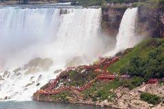 Walkway at Bridal Vail Falls, Niagara Falls. Walkway at the Bridal Vail Falls, beside the American Falls, Niagara Falls. Taken from the Canadian side Royalty Free Stock Images