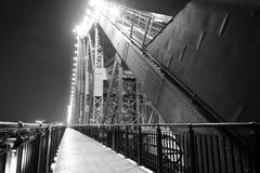 Walkway beside bridge. Royalty Free Stock Photo