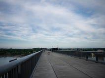 Walkway bridge at Poughkeepsie royalty free stock image