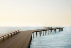 Walkway bridge on the Seascape. Beautiful Concepts And Ideas Royalty Free Stock Images