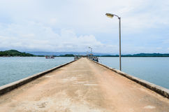 Walkway Bridge to Sea.  Royalty Free Stock Photo