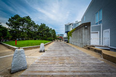 Walkway and buildings in Charlestown, Boston, Massachusetts. Stock Image