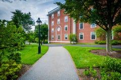 Walkway and buildings at Harvard Business School, in Boston, Mas Stock Images