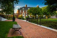 Walkway and buildings at John Hopkins University in Baltimore, M Stock Image