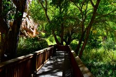 Walkway in Capitol Reef National Park royalty free stock photos