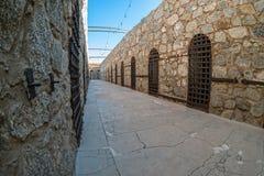 Yuma Territorial Prison, Yuma, Arizona. Walkway between cell blocks, Yuma Territorial Prison in Yuma, Arizona Royalty Free Stock Photography