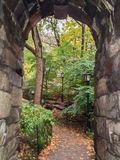 Walkway in Central Park. A walkway under an arch in Central Park, New Yor Royalty Free Stock Photography