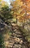 Walkway at Chimney Rock Park NC stock images