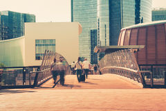 Walkway in the city center. Walkway in a city center Stock Images