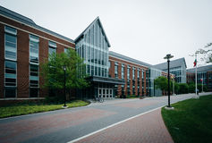 Walkway and the College of Liberal Arts, at Towson University, i stock photo