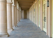 Walkway with Columns Royalty Free Stock Photography