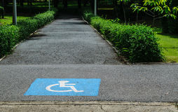 Walkway. The corridor is a way for people with disabilities Royalty Free Stock Photo