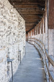 Walkway on the curtain wall in Tallinn, Estonia Stock Photos