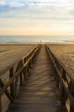 Walkway down to the beach Royalty Free Stock Photography