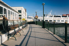 Walkway at the Embarcadero, in San Francisco  Stock Photos