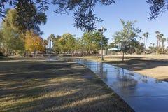Walkway in Encanto Park, Phoenix, AZ Stock Images
