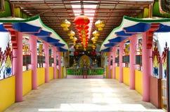 Walkway entrance to Tambun Tibetian Buddhist Temple hall, Perak Stock Photo
